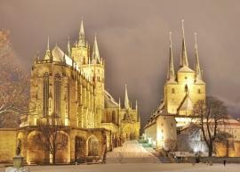 Domberg zu Erfurt im Winter