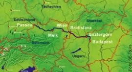 Route Passau - Budapest - Passau